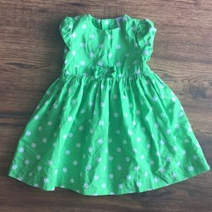 🌈3 for $13/ 12 month carters polka dot dress